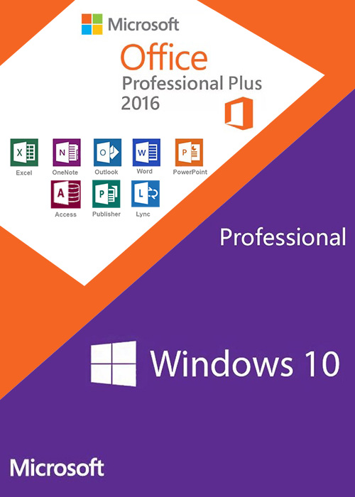 Windows10 PRO OEM + Office2016 Professional Plus CD Keys Pack