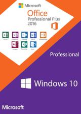 Official Windows10 PRO OEM + Office2016 Professional Plus CD Keys Pack