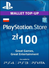 Official Play Station Network 100 PLN PL
