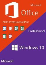 Official Windows10 PRO OEM + Office2019 Professional Plus CD Keys Pack