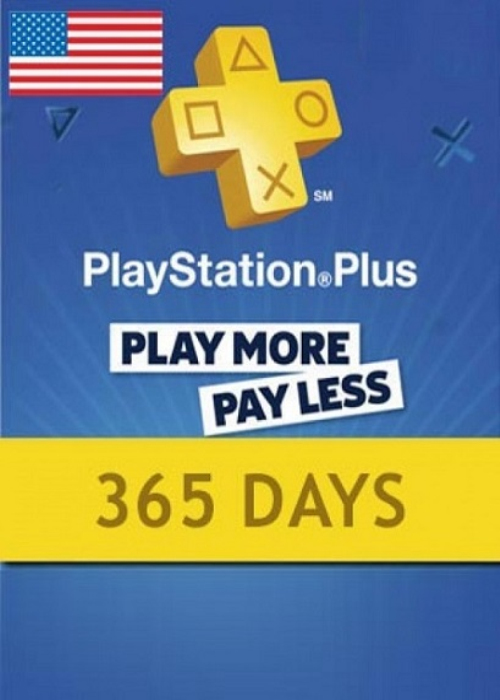 Playstation Plus 365 Days Card North America