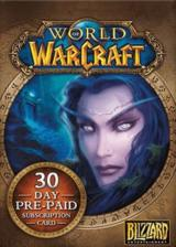 Official World of Warcraft 30 Days Time Card NORTH AMERICA