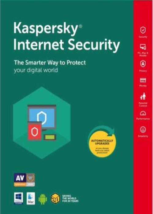 Kaspersky Internet Security 3 PC 1 Year Key Global